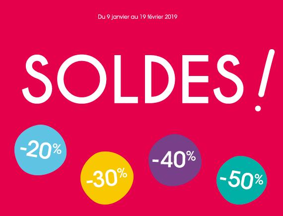 Du 9 janvier au 19 février 2019 Soldes ! -20% -30% -40% -50%
